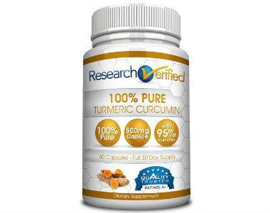 Research Verified 100% Pure Turmeric Curcumin Review