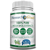 Research Verified 100% Pure Holy Basil Extract