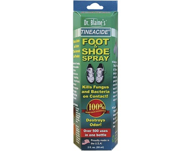 Dr. Blaine's Tineacide Antifungal Foot & Shoe Spray Review - For Symptoms Associated With Athletes Foot