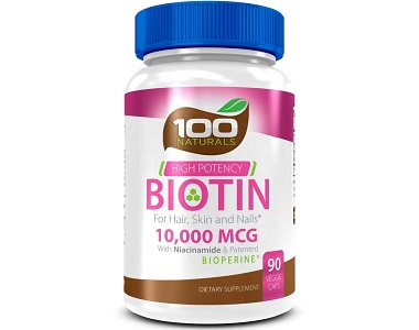 100 Naturals Biotin Review - For Hair Loss, Brittle Nails and Unhealthy Skin