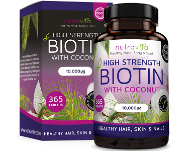 Nutravita High Strength Biotin Review - For Hair Loss, Brittle Nails and Unhealthy Skin
