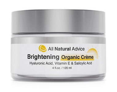 All Natural Advice Brightening Organic Cream Review for reducing dark spots and blemishes