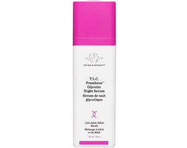 Drunk Elephant TLC Framboos Glycolic Night Serum Review - For Aging Skin