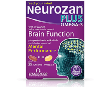 Vitabiotics Neurozan Plus Omega-3 Review - For Improved Brain Function Support